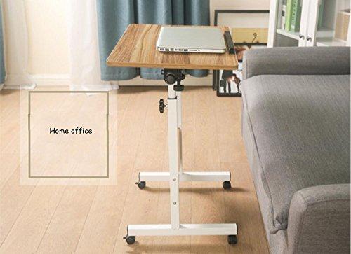 Bureau d'ordinateur Pliable, Taille réglable Table de Travail en Bois Portable Table de Travail Multifonction pour canapé-lit (Couleur : A, Taille : 50 * 80cm)