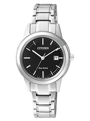 Citizen Damen Analog Quarz Uhr mit Edelstahl Armband FE1081-59E