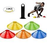 Mengger Plots de Marquage, Haute Visibilité cônes de marqueurs avec Porte-Plot Inclus Sport...