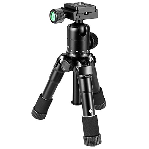Crazefoto 20 inches Lightweight Compact Aluminum Alloy Mini Desktop Tabletop Tripod with 360 Degree Ball Head,1/4 inches Quick Release Plate, Bag Compatible with DSLR Camera, Video Camcorder