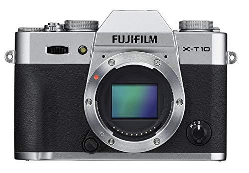 Fujifilm X-T10 Body Silver Mirrorless Digital Camera (Renewed)