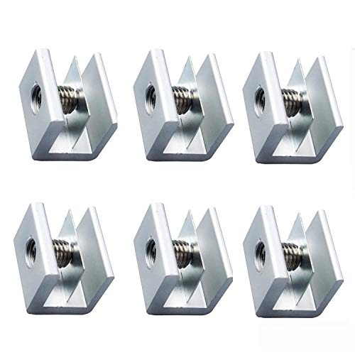 窓 ロック 6個セット サッシ ストッパー 工具付き 補助錠 ベランダ 窓 鍵 防犯 徘徊 対策 ネジ 泥棒 (銀)