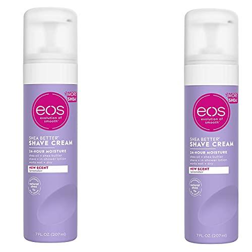 EOS Ultra Moisturizing Shave Cream-Lavender Jasmine-7 oz, 2 pack