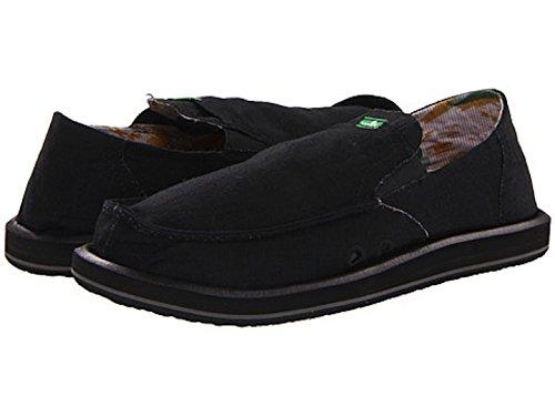 Sanuk Men's Pick Pocket Slip-On Shoe (13 D(M) US, Black/Black)