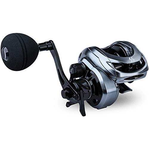 Sougayilang Baitcasting Fishing Reel High Speed Baitcaster with 9+1 Ball Bearings, Gear Ratio 8.0:1, Magnetic Brake System Power Handle Casting Reels - Right Handed