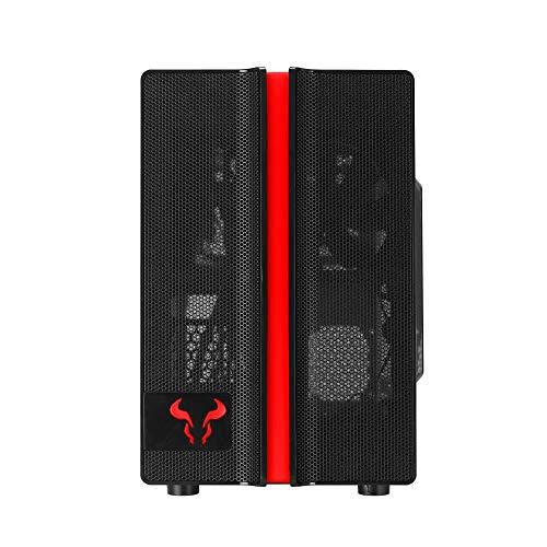 RIOTORO CR1088 Prism RGB Lighting Gaming PC Gehäuse ATX Mini-Tower RGB Beleuchtung Seitenfenster schwarz