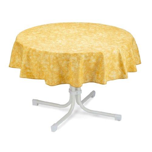 BEST 09820691 Tischdecke rund 160 cm, gelb