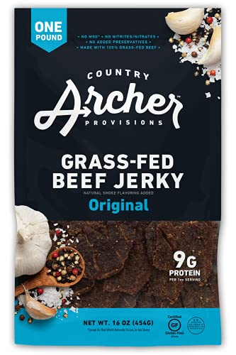 Original Beef Jerky by Country Archer, 100% Grass-Fed,...