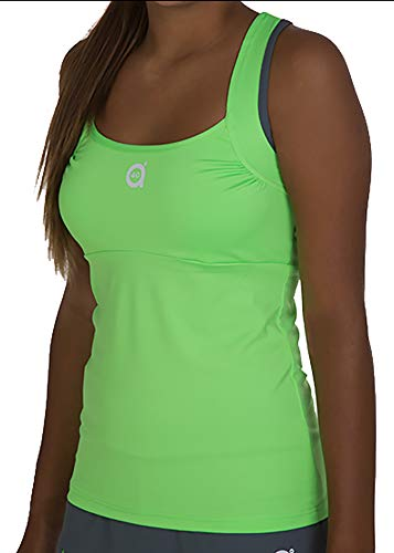 a40grados Sport & Style, Camiseta Trass (Color Verde Lima), Mujer, Tenis y Padel (Paddle) (36 XS)