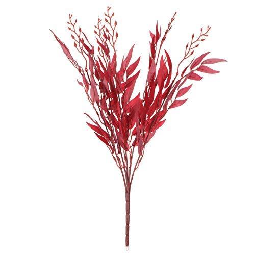 HM&CL 1 Pieza Planta Artificial Hoja de Sauce follaje de imitación eucalipto Flor decoración Boda Navidad Corona decoración del...