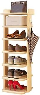 JJZXT Support Vertical Chaussures en Bois derrière Chaussures Porte étagère de Rangement Economie d'espace Chaussures Orga...