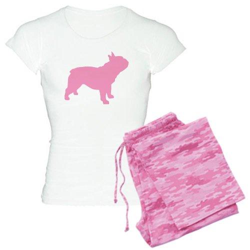 CafePress Pink French Bulldog Women's Light Pajamas Womens Novelty Cotton Pajama Set, Comfortable PJ Sleepwear