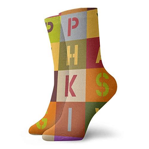 zjipeung Maske der Blumen Athletic Socks, Unisex Mid-Calf Socks Knöchel Socken