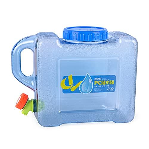 Depósito de agua portátil de 5 l con grifo para coche, cubo de agua potable, gran capacidad para coche, cubo de agua para coche, para viajes de camping al aire libre