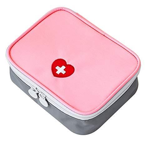 Portátil Mini Kit de Primeros Auxilios de Viaje vacío Medicina Bolsa pequeña Bolsa de Almacenamiento Organizador Médico de Pastillas de medicamentos Paquete contenedor para Actividades al Aire Libre