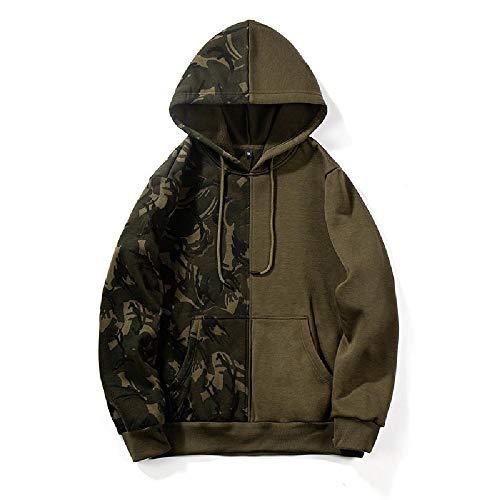 Preisvergleich Produktbild Nobrand Herren Kapuzenpullover,  Camouflage-Muster,  zweifarbiger Kontrast Gr. Large,  armee-grün