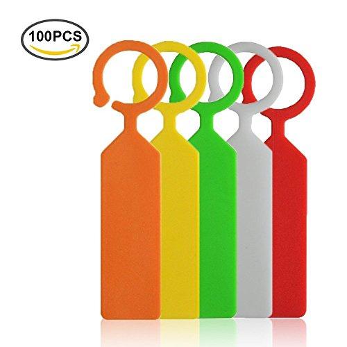 Kotiger 100 pcs épais Plastique balises marqueurs Plante Arbre jardinier Chambre d'enfant étiquettes de jardin (Coloré)
