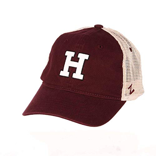 Harvard Crimson NCAA Erwachsenenmütze, Relaxed Fit University Meshback – Teamfarbe, Herren, Harvard Crimson - Team Color, Einstellbar