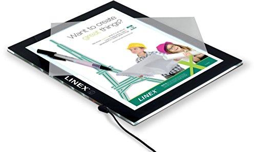 Linex 400083971 rahmenloses Lichtpult Leuchttisch A3 dimmbar Leuchtkasten LED Lichtkasten Leuchtplatte mit USB Kabel einstellbare Helligkeit ultradünner Leuchtplatte