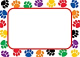 Teacher Created Resources Colorful Paw Prints Name Tags (5168),Multi Color