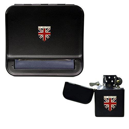 Gran Bretagna Union Jack macchina per rollare sigarette e accendino a benzina...