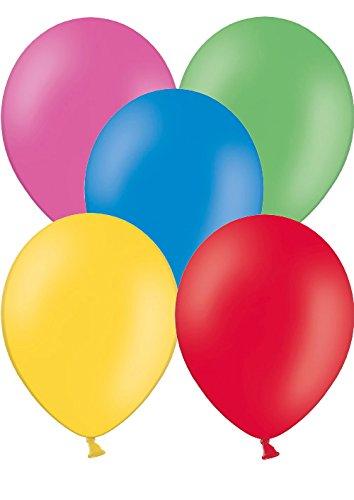 50 Luftballons Ø 28 cm Farbe frei wählbar Ballons Helium Luftballon (Gemischt)