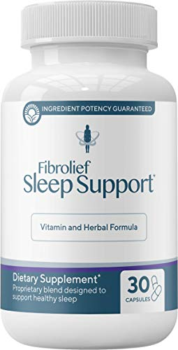 Fibrolief: Sleep Support - Vitamin and Herbal Formula for Alternative Sleep Aid - 30-Day Supply - Works Fast - No Grogginess and Non-Habit Forming