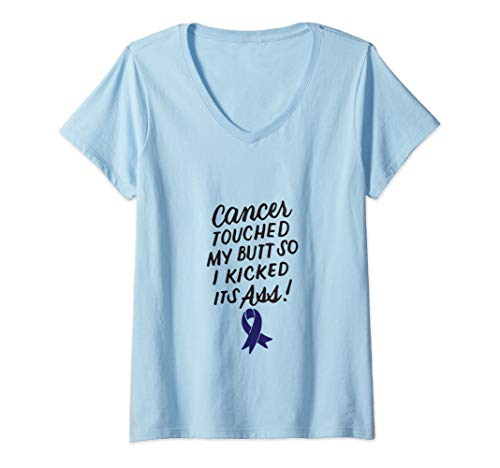 Colon Cancer Awareness Month Gifts Womens Funny Colon Cancer Survivor Cancer Awareness Month Ribbon V Neck T Shirt From Amazon Daily Mail