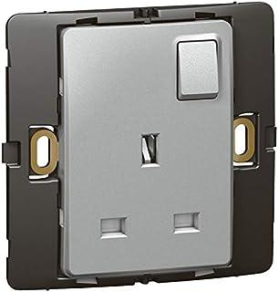 Socket outlet Mallia - switched - 1 gang - 13 a 250 V - silver