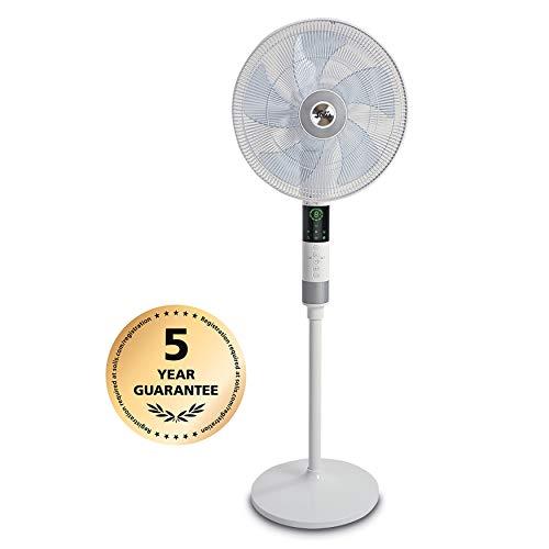 Solis 970.60 Staande ventilator, 3 verschillende functies, inclusief infrarood afstandsbediening, wit, Breeze 360°
