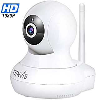 WiFi Surveillance IP Security Camera - TENVIS Wi-Fi IP Camera Surveillance Camera System Wireless HD 1080P Security Cam Home Dome Baby Elder Pet Nanny Monitor with Pan/Tilt Two-Way Audio/Night Vision