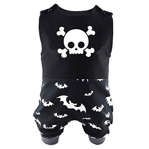 Eve Couture Babykleidung Baby Strampler Totenkopf & Fledermaus Unisex Rock´n Roll Gothic schwarz (62/68)