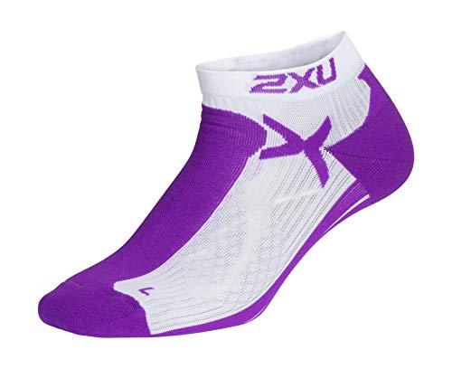 2XU Damen Low Rise Sock-WQ5337e Socken, Grape Juice/White, XS-S
