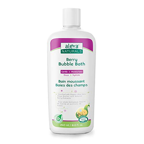 Aleva Naturals Bubble Bath   Specially Made for Sensitive Skin   Long Lasting Bubbles   Moisturize and Protect Skin   Made with Natural and Organic Ingredients (DGL-041) Berry 8.12 Fl Oz