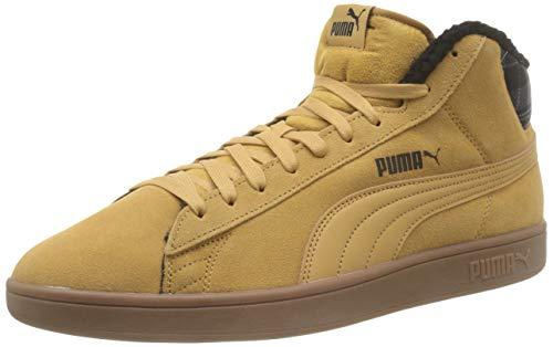 Puma Puma Smash v2 Mid WTR Hohe Sneaker Unisex-Erwachsene, Beige (Taffy-Puma Black-High Rise-Gum), 38.5 EU