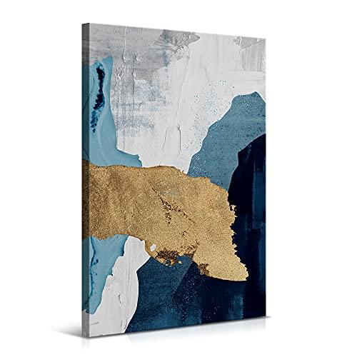 Cuadro Arte Abstracto Moderno - 40 x 60 cm - Lienzo de Decoración para Salón y Dormitorio - Lienzo de Poliéster y Bastidor de Madera, LEN-114