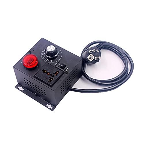 L.J.JZDY Motor Pantalla de Voltaje AC 220V 4000W Regulador de Voltaje electrónico Regulador eléctrico Controlador de Velocidad...