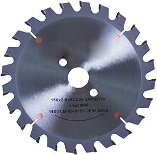Connex COM361503 hand-/bordssågblad, hårdmetallgjuten, variolin-precisionskontroll, 150 x 20/16/13 mm, 24 tänder