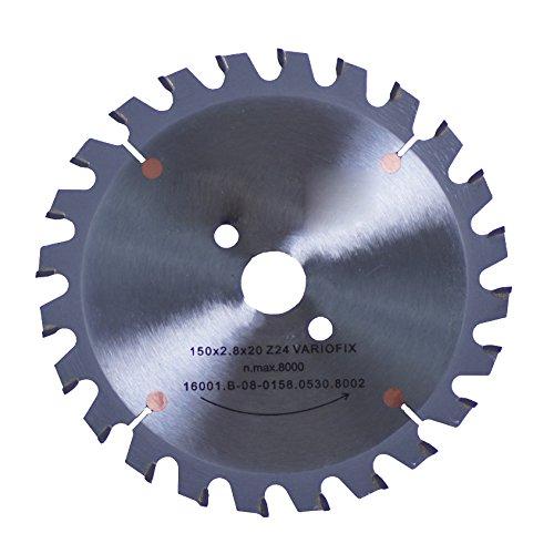 Connex COM361503 hand-/tafelcirkelzaagblad, hard metaal, Varioline-precisie-uitvoering, 150 x 20/16/13 mm, 24 tanden