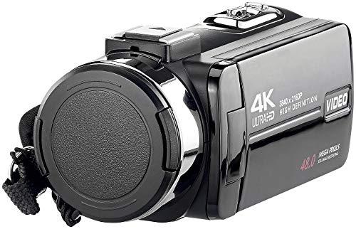Somikon Videokamera: 4K-UHD-Camcorder mit Sony-Sensor, Touch-Display, HD mit 120 B./Sek. (Video Cam)