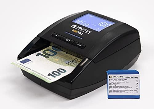 HILTON EUROPE - HE310 Con Batería Detector Electrónico de Billetes Falsos 100% Fiable No necesita actualización divisa EURO 7 Sistemas de Detección