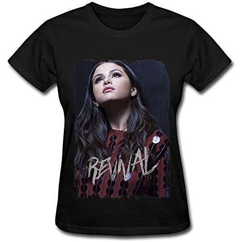 Grossbull Da Selena Gomez Revival Tour Poster T Shirt for Women Black