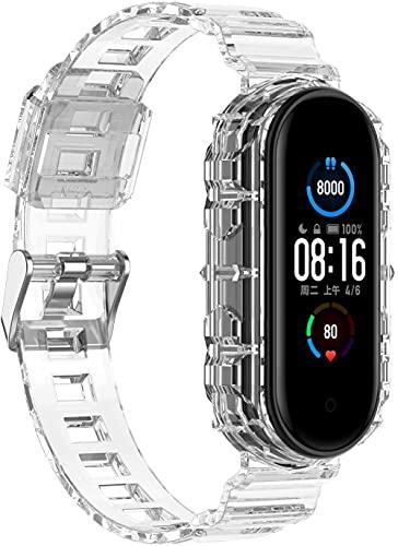 Gransho Correa de Reloj Compatible con Xiaomi Mi Band 5 / Xiaomi Mi Band 6 / Amazfit Band 5, Impermeable Reemplazo Correas Reloj Silicona Banda (Pattern 3)