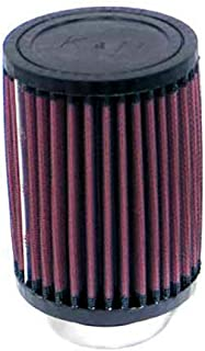 K&N RD-0520 Universal Clamp-On Air Filter: Round Straight; 2.125 in (54 mm) Flange ID; 6 in (152 mm) Height; 3.5 in (89 mm) Base; 3.5 in (89 mm) Top