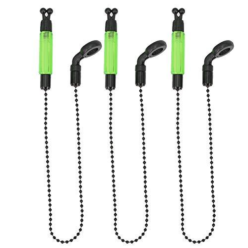 Biss Indikator 3pcs Licht Swinger Fischen Alarm Praktische Zubehör Karpfen Warndienst Außen Tragbar Stange Gerät Spulen Kleiderbügel Beleuchtet - Grün, Free Size