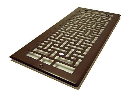 Decor Grates AJL614R-RB Oriental Return, 6-Inch by 14-Inch, Rubbed Bronze by Decor Grates