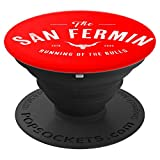 'The Running of the Bulls' - Pamplona Gift - San Fermin PopSockets Agarre y Soporte para Teléfonos y Tabletas