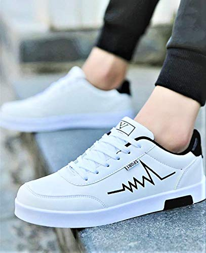 Luxury Casual Fashionable Sneaker Shoes (White, Numeric_8)