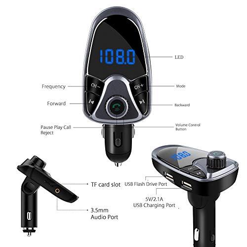 OLPvh MP3-speler, FM-zender, bluetooth, MP3-speler, FM-modulator, handsfree, dual USB, A27, auto, bluetooth, MP3-speler, Metálico