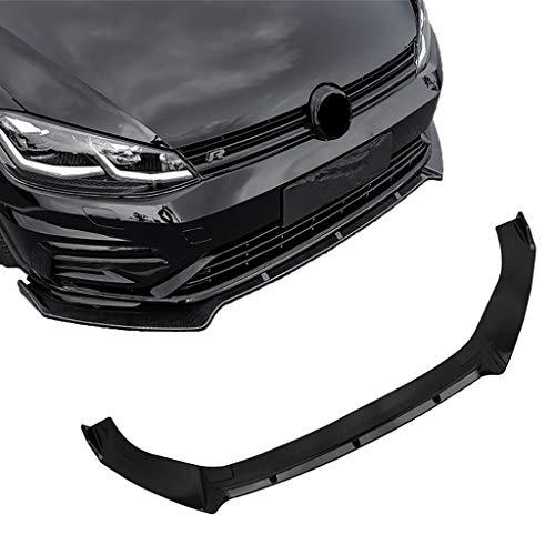 NEWCURLER Frontstoßstangenlippe Spoiler Chin, Schwarz Frontstoßstange Body Kit Spoiler Lip 3PCS, Geeignete Auto Carbon Frontlippe für Volkswagen Golf 7,7.5,Carbon Grain